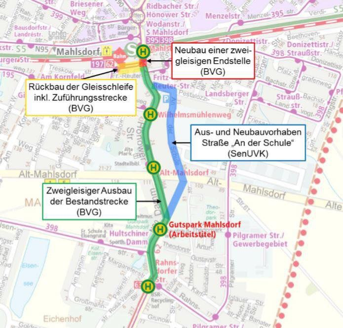 Mahlsdorf LIVE - 10 Millionen Euro für 1,6 Kilometer Gleise, Fertigstellung 2023: BVG plant zwei Gleise in der Hönower Straße
