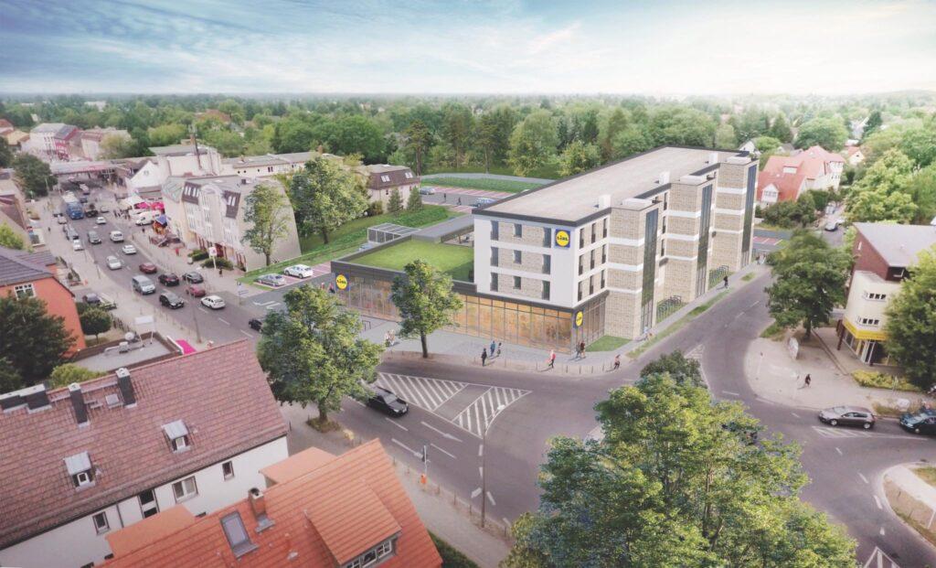 Mahlsdorf LIVE - Erste Bilder: Lidl baut Supermarkt in Mahlsdorf mit 26 Wohnungen auf dem Dach