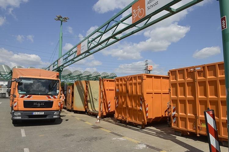 Der Mahlsdorfer Recyclinghof der BSR bleibt heute geschlossen. Foto: BSR