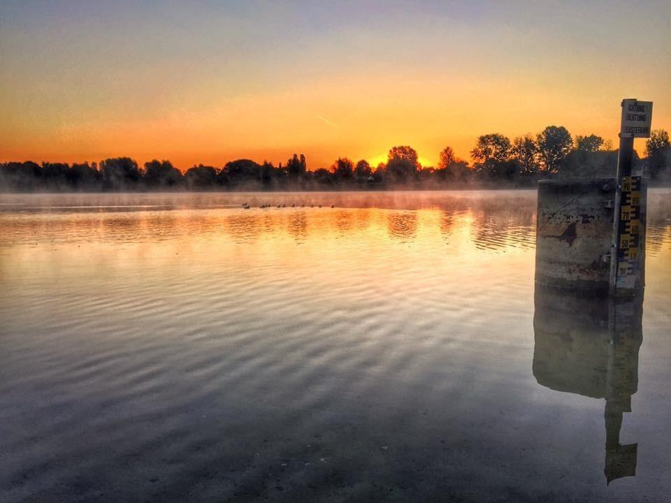 Mahlsdrof LIVE -Der Habermannsee an einem frühen Morgen vor drei Jahren.