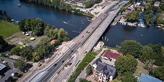 Die Salvador-Allende-Brücke im Juli 2020. Foto: IGS Ingeneure