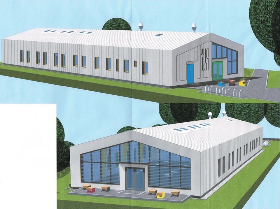 So soll der Mensa-Neubau der Johann-Strauß-Grundschule in Biesdorf aussehen. Foto: Gordon Lemm