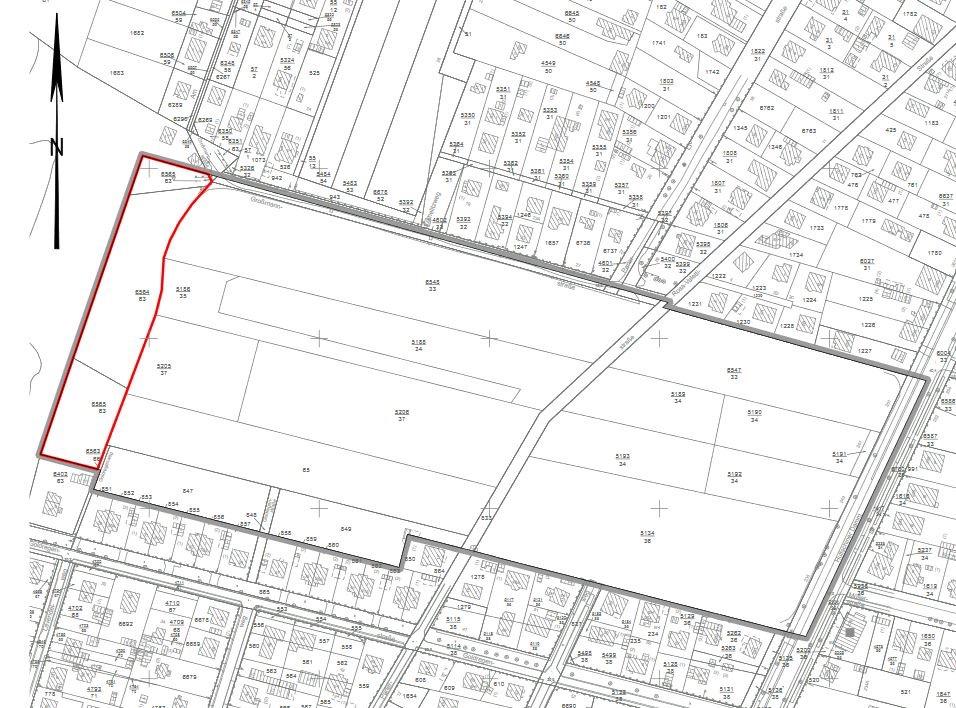 Mahlsdorf LIVE - Die rot umrandeten Grundstücke dürfen mit der Veränderungssperre nicht mehr bebaut werden.